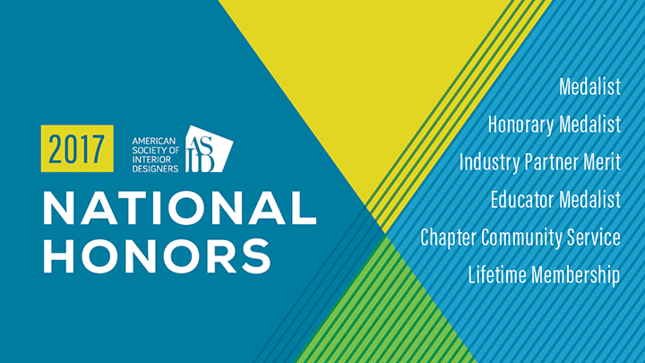 ASID Announces 2017 National Honors Recipients